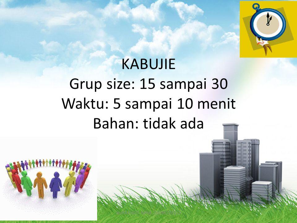 MASILO Grup size: 10 sampai 30 Waktu: 5 sampai 10 menit NURMIYATI. NPM: 20090720217