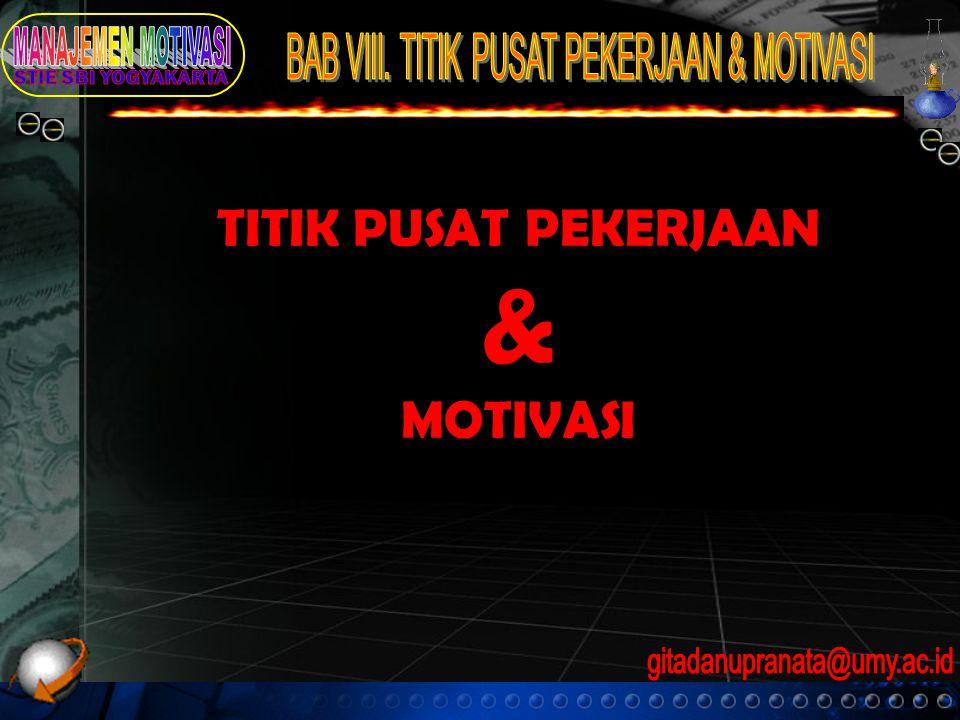 TITIK PUSAT PEKERJAAN & MOTIVASI