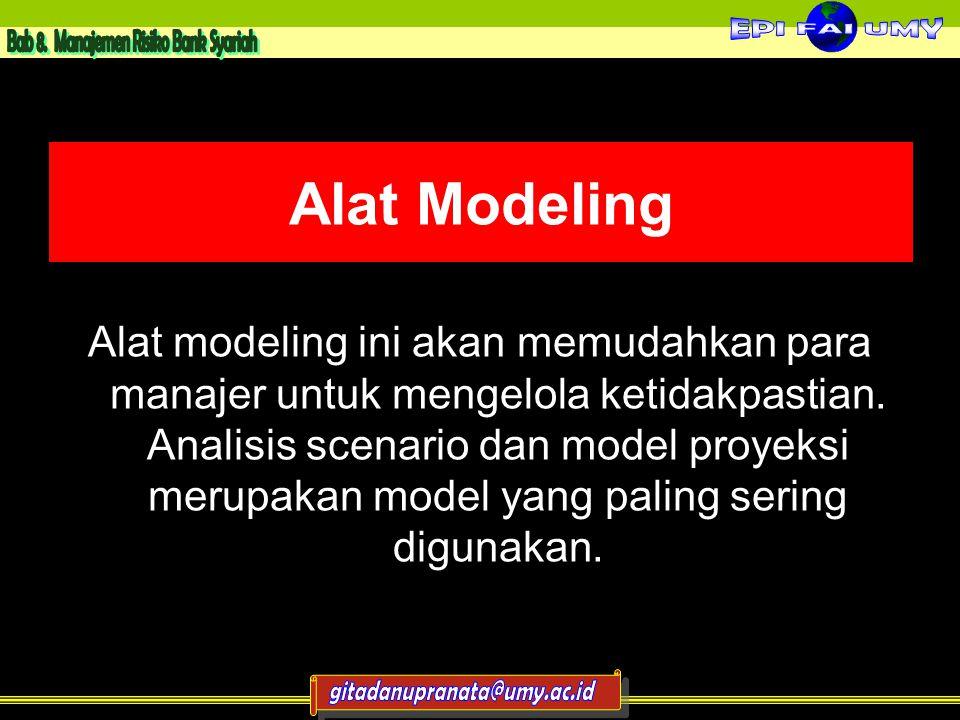 Alat Modeling Alat modeling ini akan memudahkan para manajer untuk mengelola ketidakpastian.
