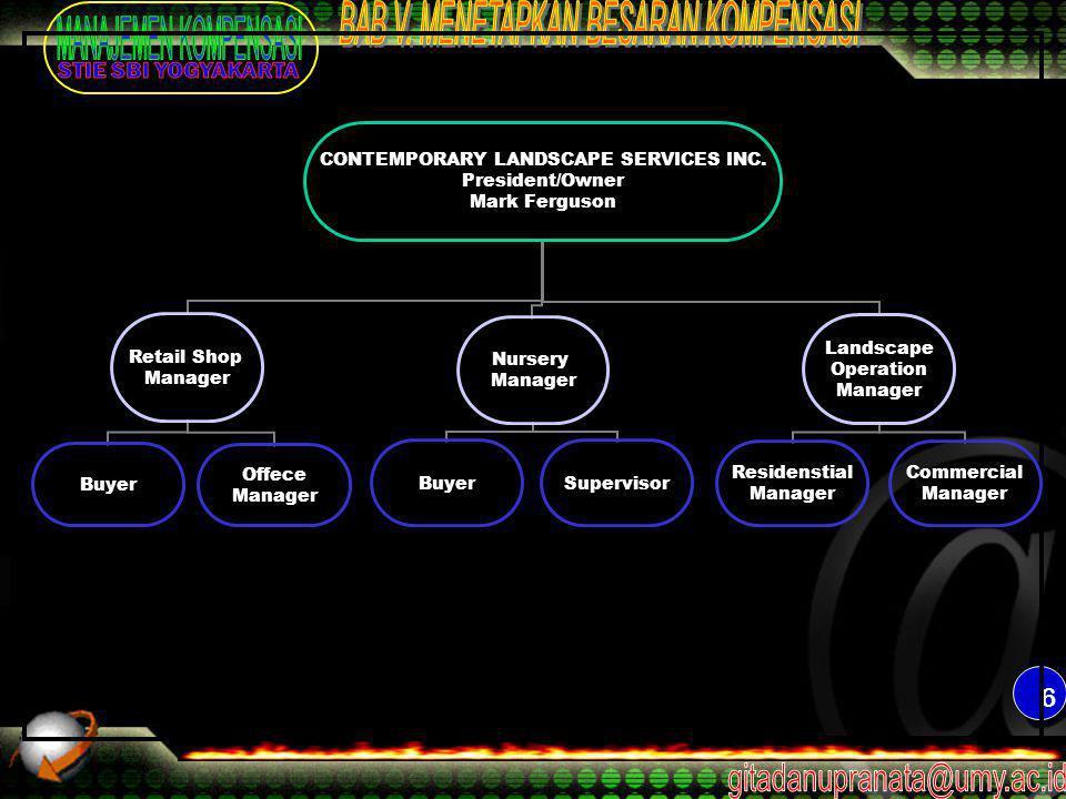 6 CONTEMPORARY LANDSCAPE SERVICES INC.