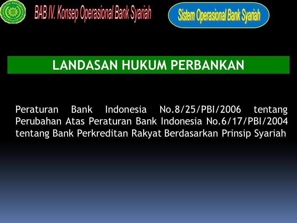 Pasal 16 UU No.10 Tahun 1998: Persyaratan dan tatacara pendirian bank umum dan BPR Syariah ditetapkan oleh Bank Indonesia PBI No.4/1/PBI/2002 tanggal 27 Maret 2002 tentang Perubahan Kegiatan Usaha Bank Umum Konvensional menjadi Bank Umum Syariah dan Pembukaan Kantor Bank Berdasarkan Prinsip Syariah oleh Bank Umum Konvensional.
