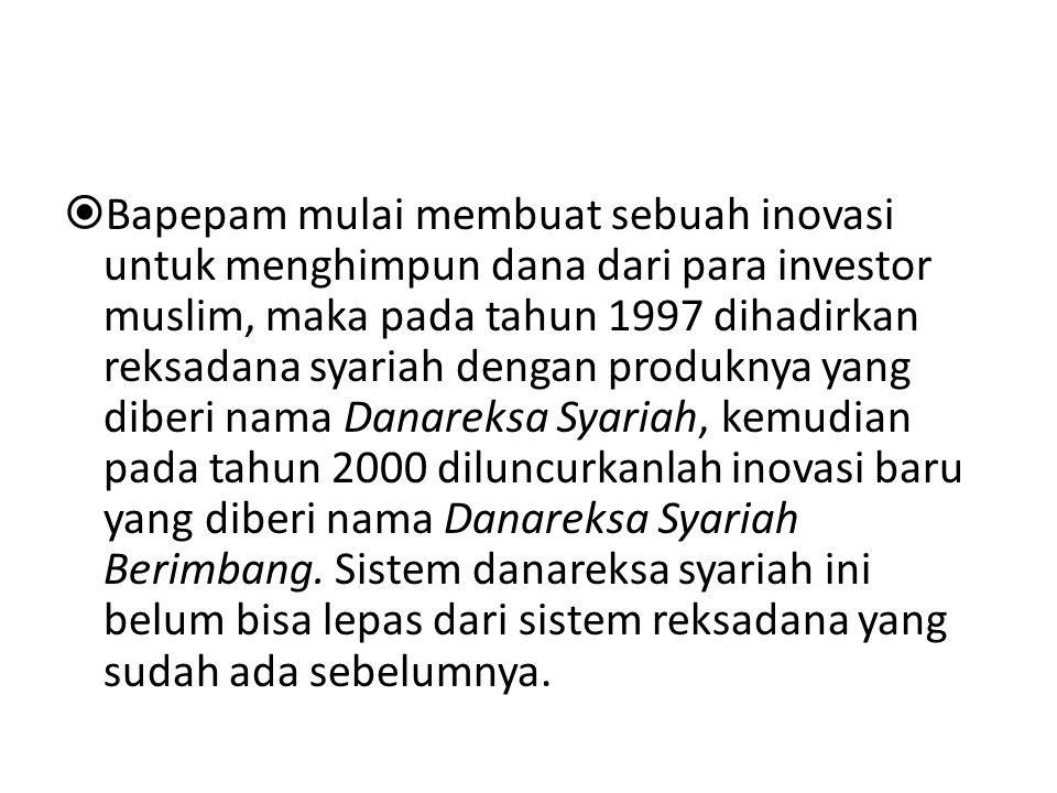 Landasan hukum reksadana Reksadana berdasarkan Undang-undang Pasar Modal Nomor 8 Tahun 1995 pasal 18, ayat (1), bentuk hukum Reksadana di Indonesia ada dua, yakni Reksadana berbentuk Perseroan Terbatas (PT.