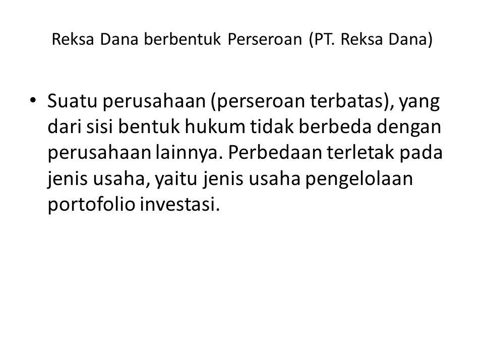 Reksa Dana berbentuk Perseroan (PT.