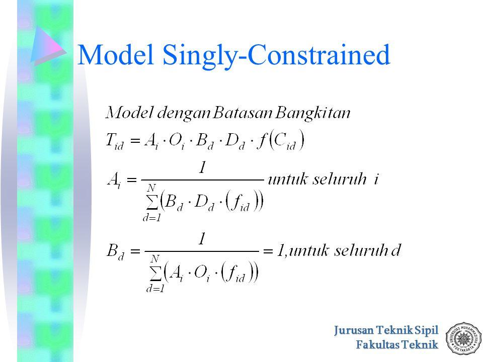 Jurusan Teknik Sipil Fakultas Teknik Model Singly-Constrained