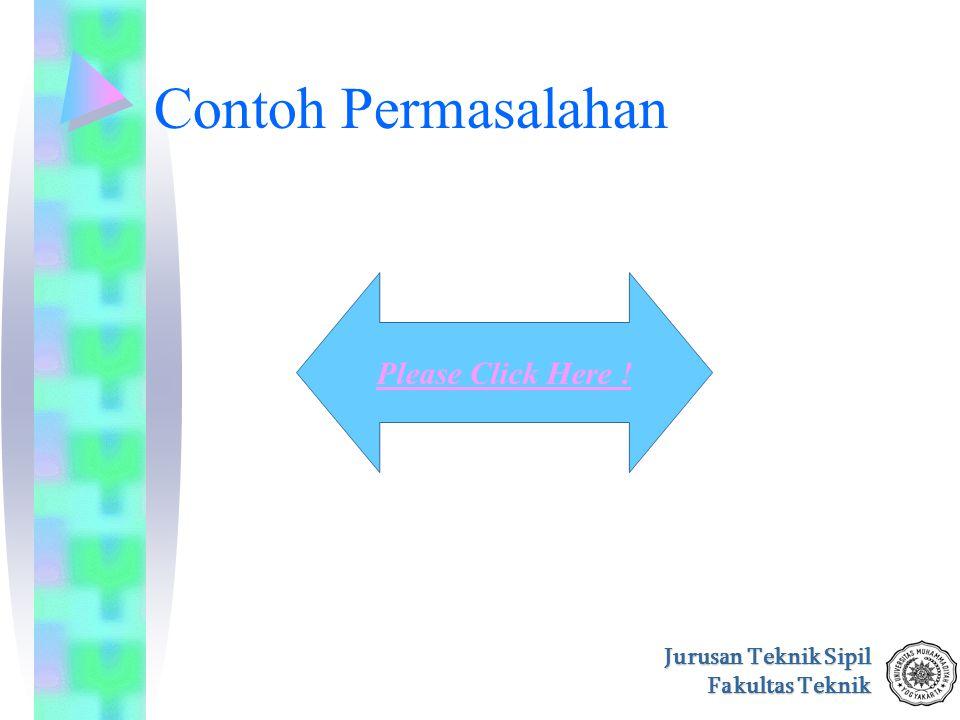 Jurusan Teknik Sipil Fakultas Teknik Contoh Permasalahan Please Click Here !