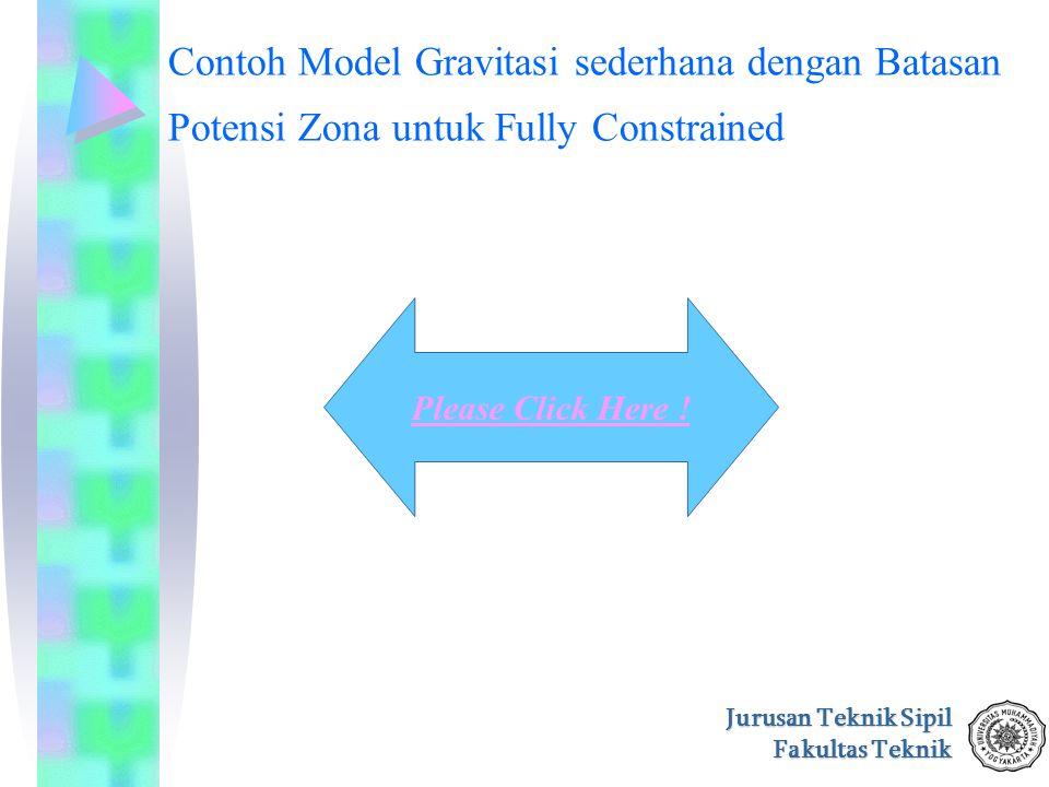 Jurusan Teknik Sipil Fakultas Teknik Contoh Model Gravitasi sederhana dengan Batasan Potensi Zona untuk Fully Constrained Please Click Here !