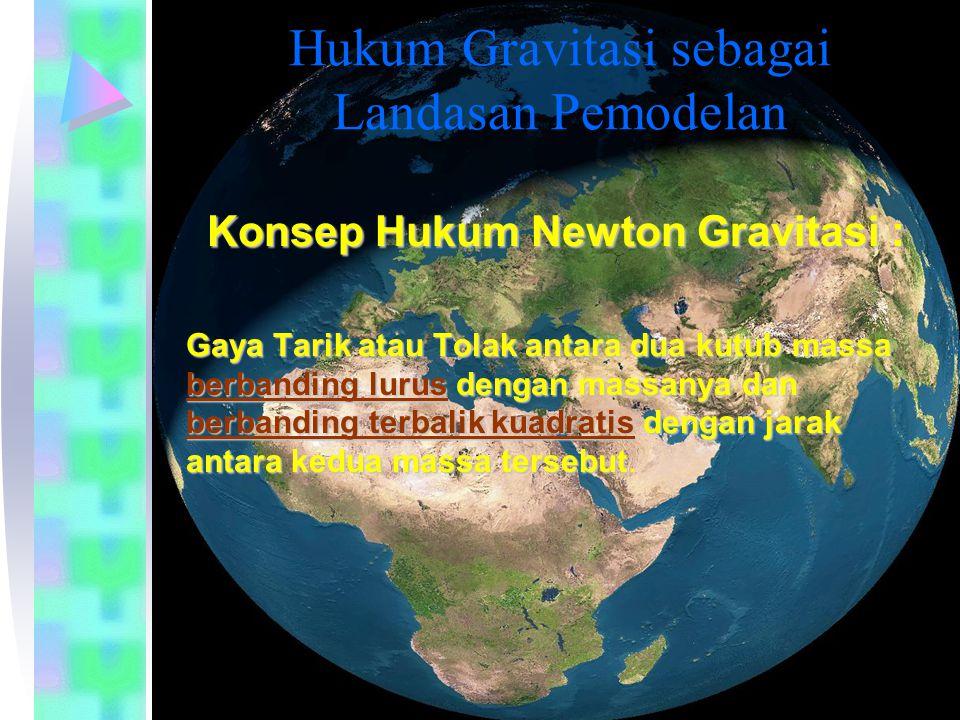 Jurusan Teknik Sipil Fakultas Teknik Hukum Gravitasi sebagai Landasan Pemodelan Konsep Hukum Newton Gravitasi : Gaya Tarik atau Tolak antara dua kutub