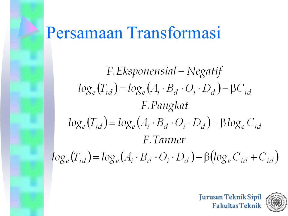 Jurusan Teknik Sipil Fakultas Teknik Persamaan Transformasi