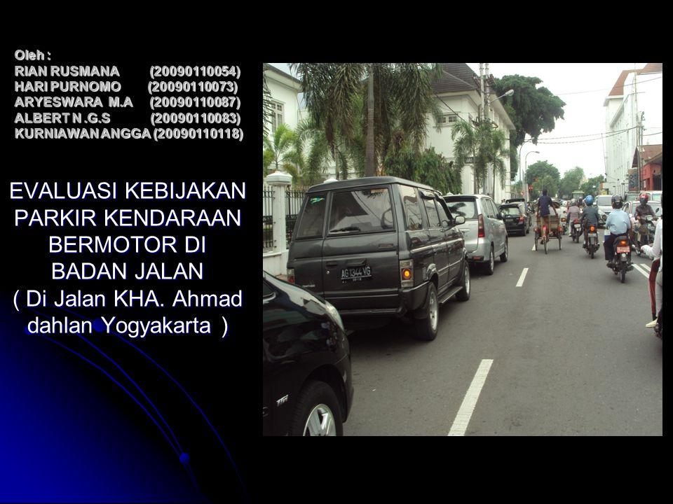 Salah satu penyebab masalah transportasi yang sering dijumpai di kota besar di Indonesia seperti Yogyakarta adalah terbatasnya ruang jalan yang dibutuhkan untuk mengalir arus lalulintas.