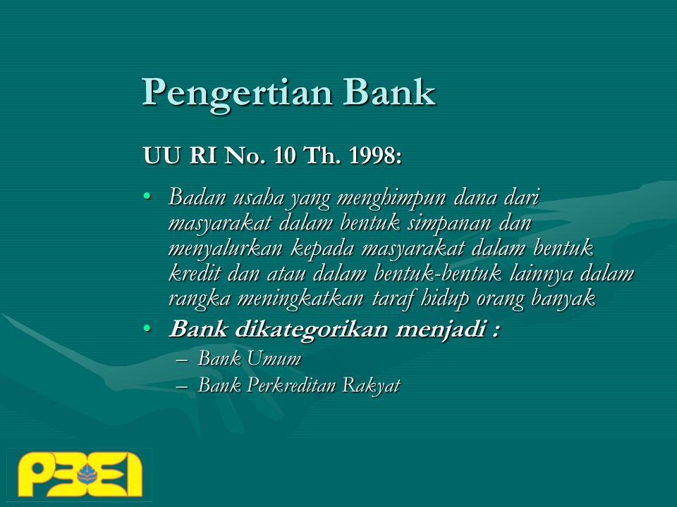 Pengertian Bank UU RI No.10 Th.