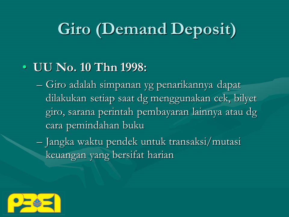 Giro (Demand Deposit) UU No.10 Thn 1998:UU No.