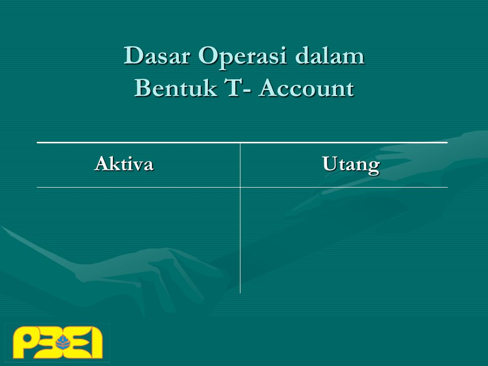 Dasar Operasi dalam Bentuk T- Account Aktiva Utang Aktiva Utang
