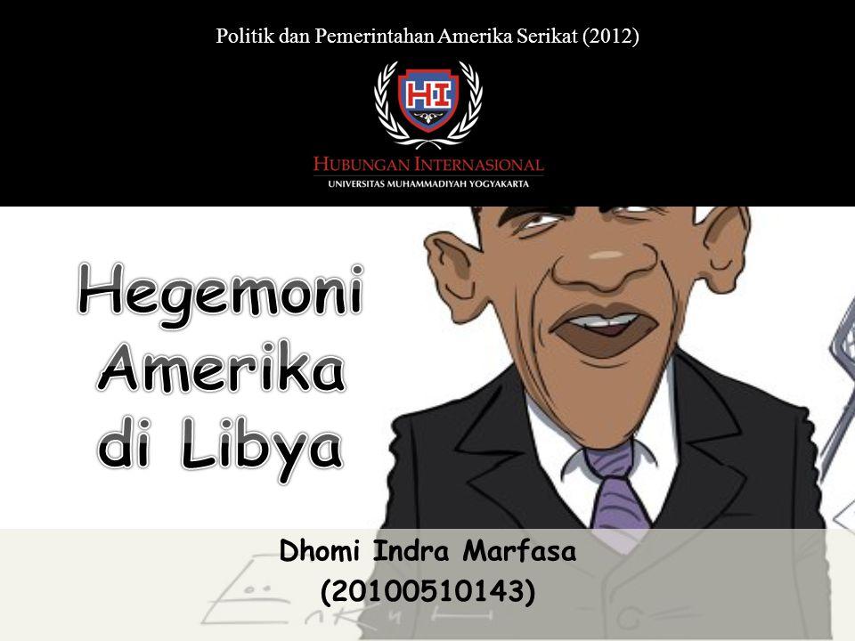 Dhomi Indra Marfasa (20100510143) Politik dan Pemerintahan Amerika Serikat (2012)