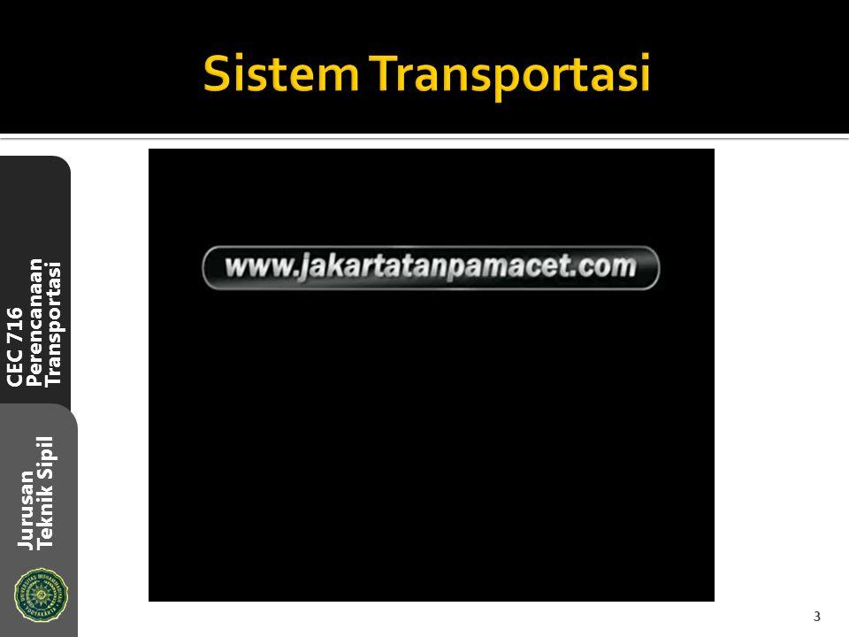 CEC 716 Perencanaan Transportasi Jurusan Teknik Sipil 3