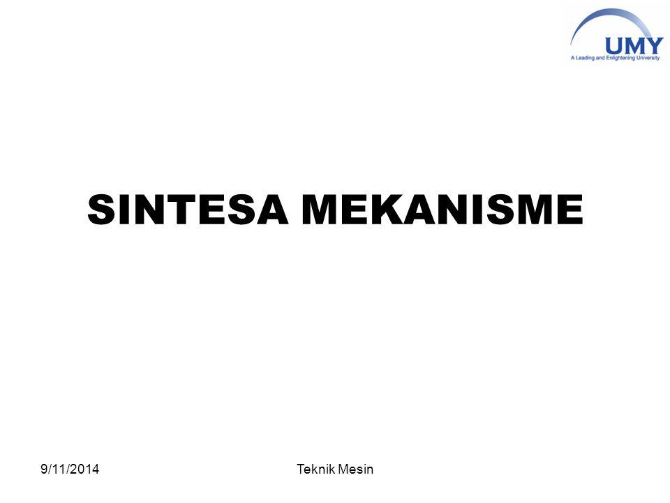 SINTESA MEKANISME 9/11/2014Teknik Mesin