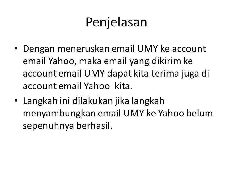 Buka email UMY