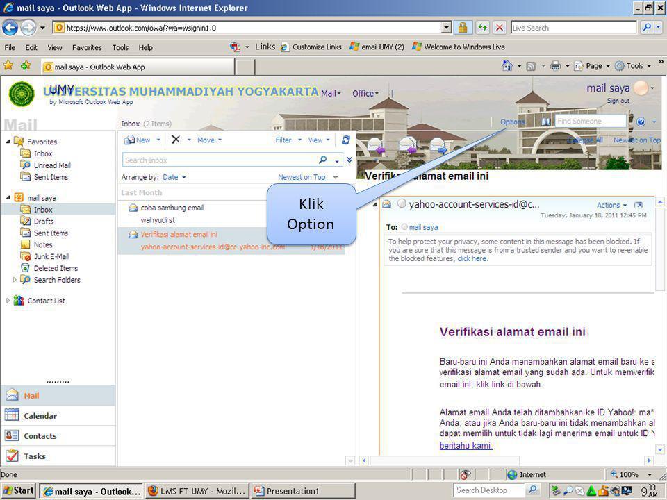 Klik Organize E Mail