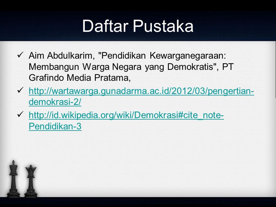 Daftar Pustaka Aim Abdulkarim,