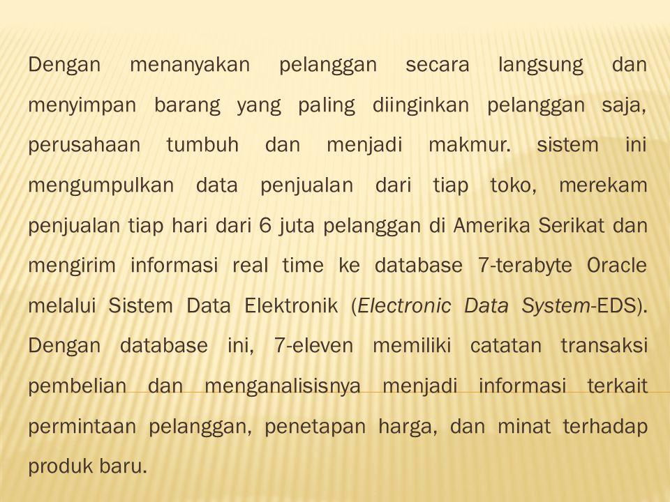 Apa manfaat sistem informasi eceran 7-Eleven???