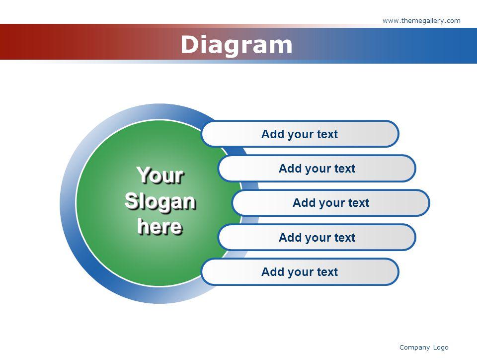 www.themegallery.com Company Logo Diagram Add your text YourSloganhereYourSloganhere