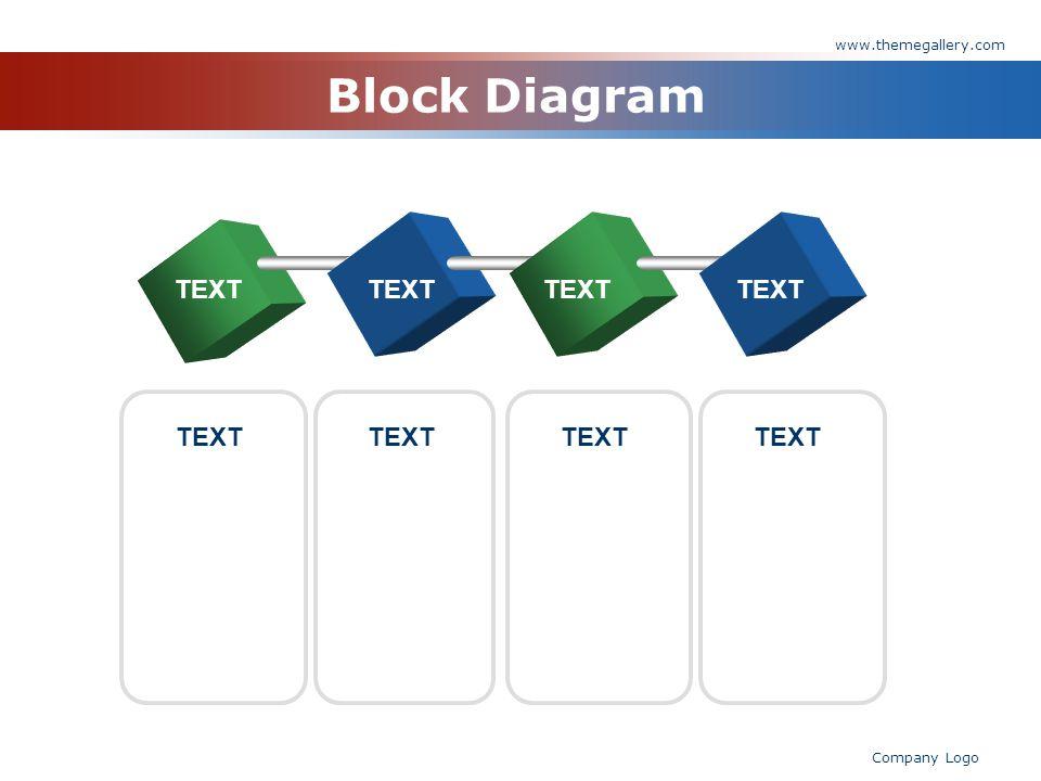www.themegallery.com Company Logo Block Diagram TEXT