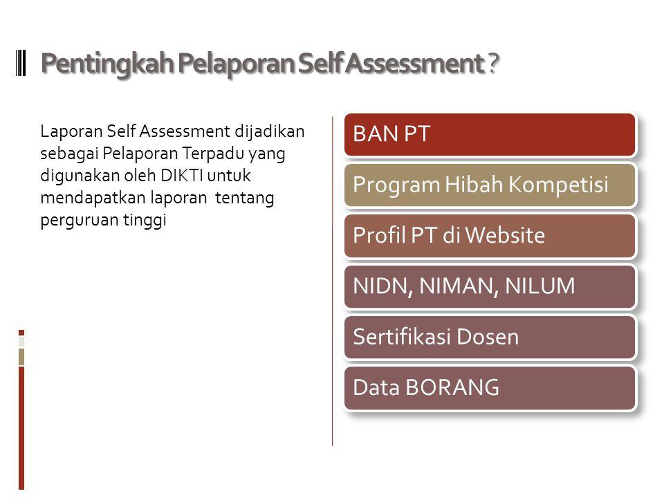 Pentingkah Pelaporan Self Assessment .