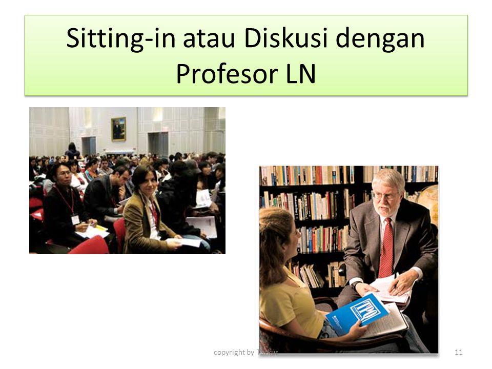 Sitting-in atau Diskusi dengan Profesor LN copyright by Tarkus11