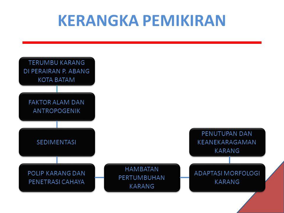 KERANGKA PEMIKIRAN TERUMBU KARANG DI PERAIRAN P.ABANG KOTA BATAM TERUMBU KARANG DI PERAIRAN P.