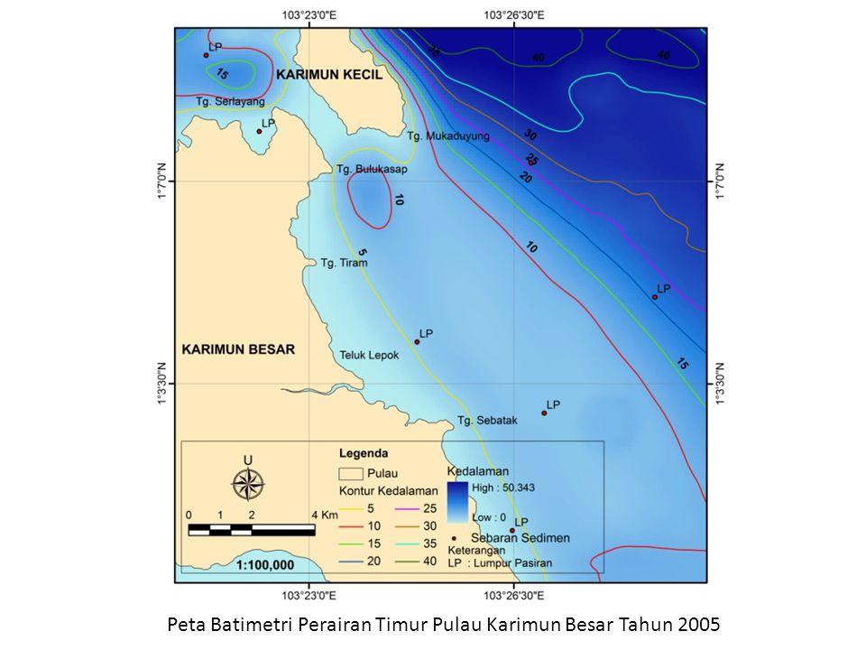 Peta Batimetri Perairan Timur Pulau Karimun Besar Tahun 2005