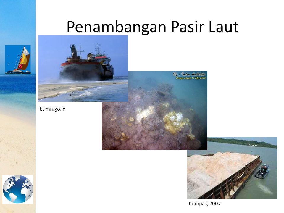 HASIL DAN PEMBAHASAN Pasang SurutBatimetri Seismik Pantul Dangkal Dampak Penambangan Pasir Laut