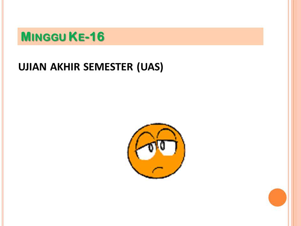 UJIAN AKHIR SEMESTER (UAS) M INGGU K E -16