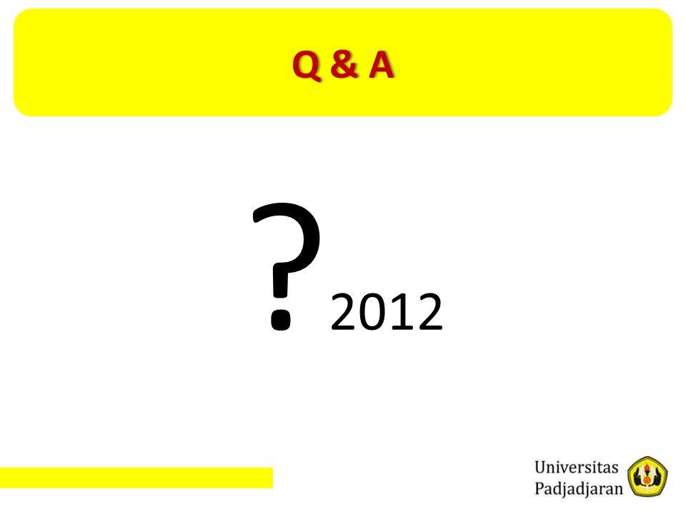 Q & AQ & A ? 2012