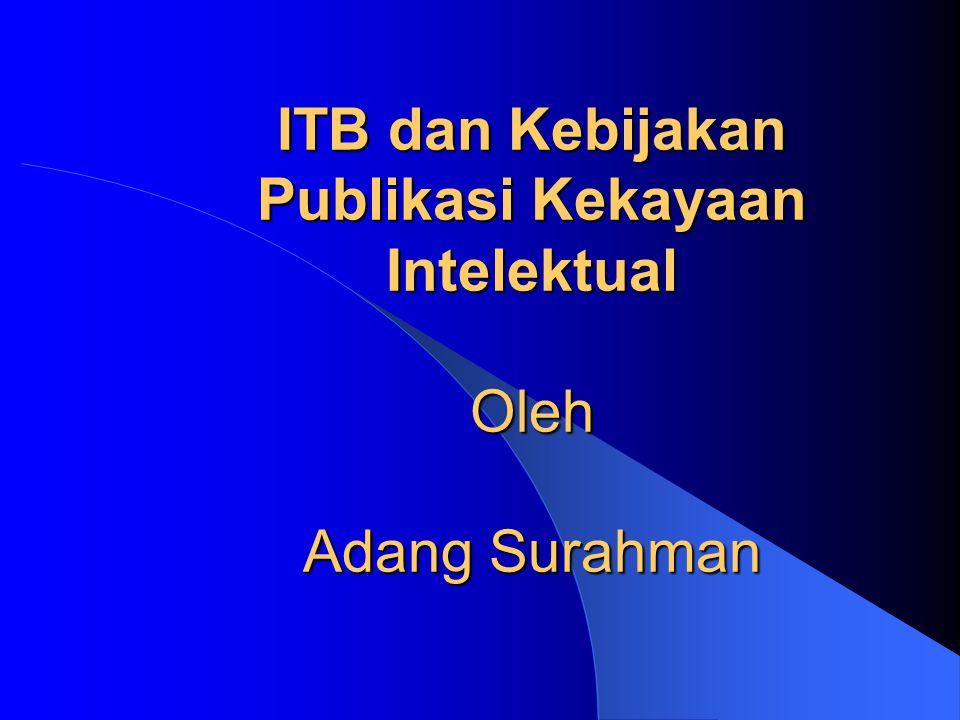 Kandungan Penghubung antara ITB dengan dunia luar (dua arah) Hasil karya ITB skripsi, tesis, disertasi, laporan penelitian, buku, diktat kuliah, dan informasi teknis lainnya