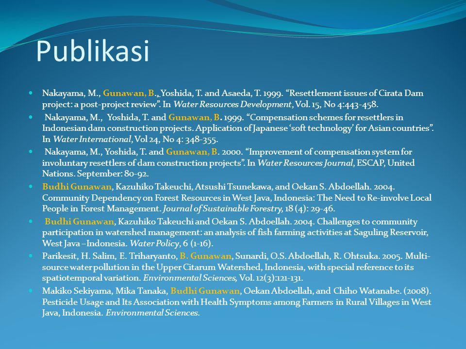 Sumber Rujukan Utama: Nair, P.K.R.2005. How (not) to write research papers in agroforestry.