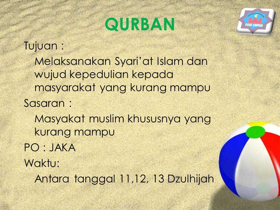 SBK FOSI (Seminar, Bazzar, Khitanan, Keputrian ) Tujuan : Untuk mensyiarkan islam secara komprehensif.