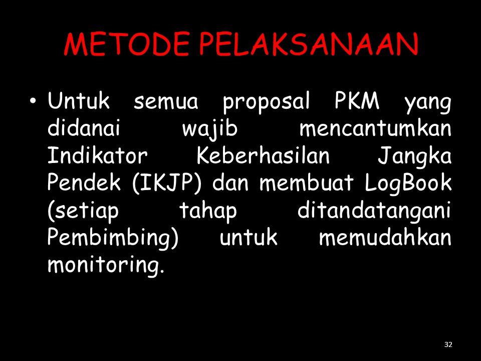 METODE PELAKSANAAN Uraikan metode yang digunakan dalam pelaksanaan program secara rinci. Khusus untuk PKM-P digunakan Metode Penelitian. Uraian untuk