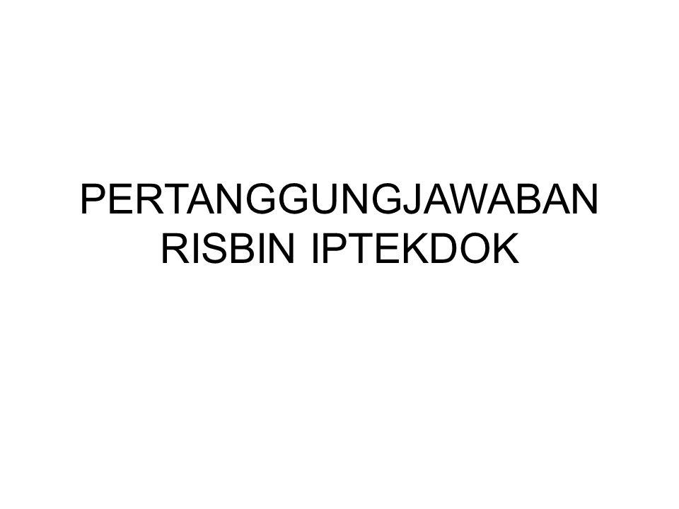 PERTANGGUNGJAWABAN RISBIN IPTEKDOK