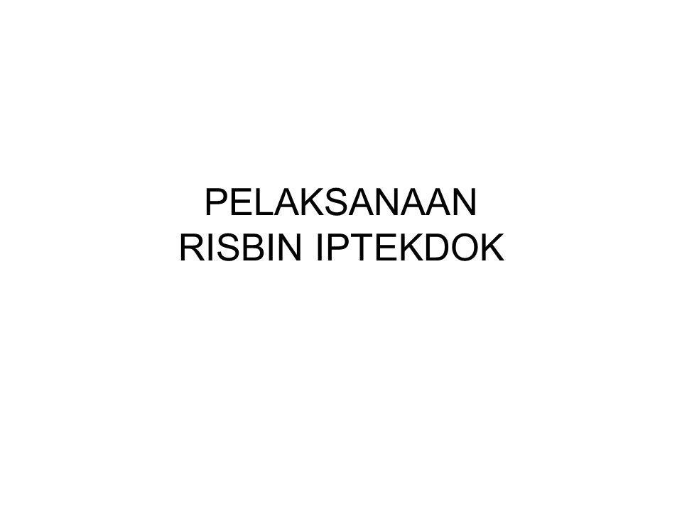 PELAKSANAAN RISBIN IPTEKDOK