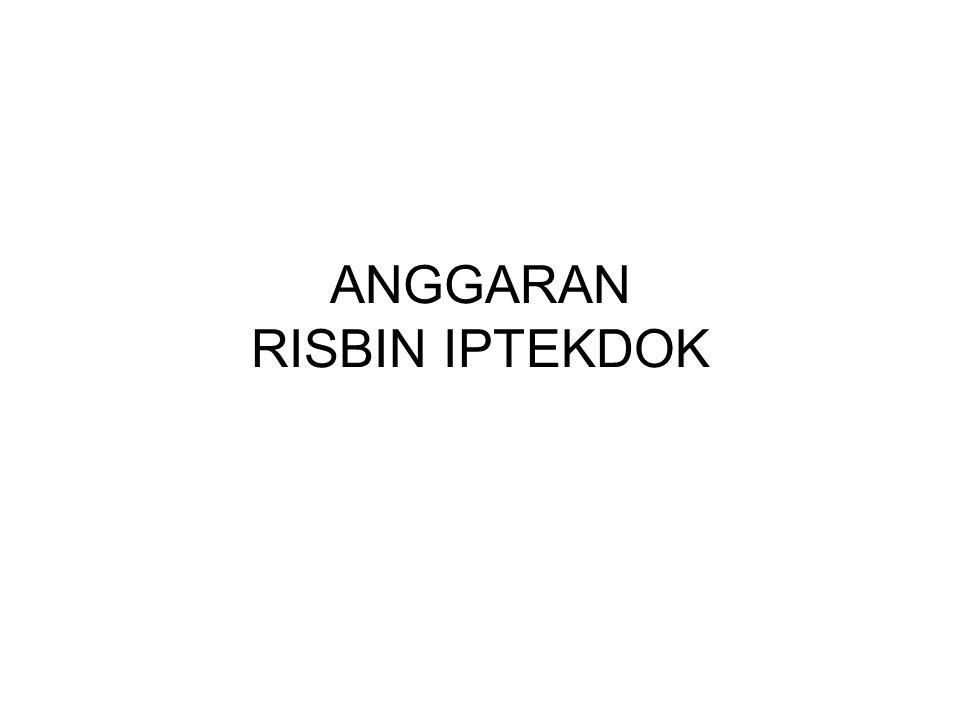 ANGGARAN RISBIN IPTEKDOK