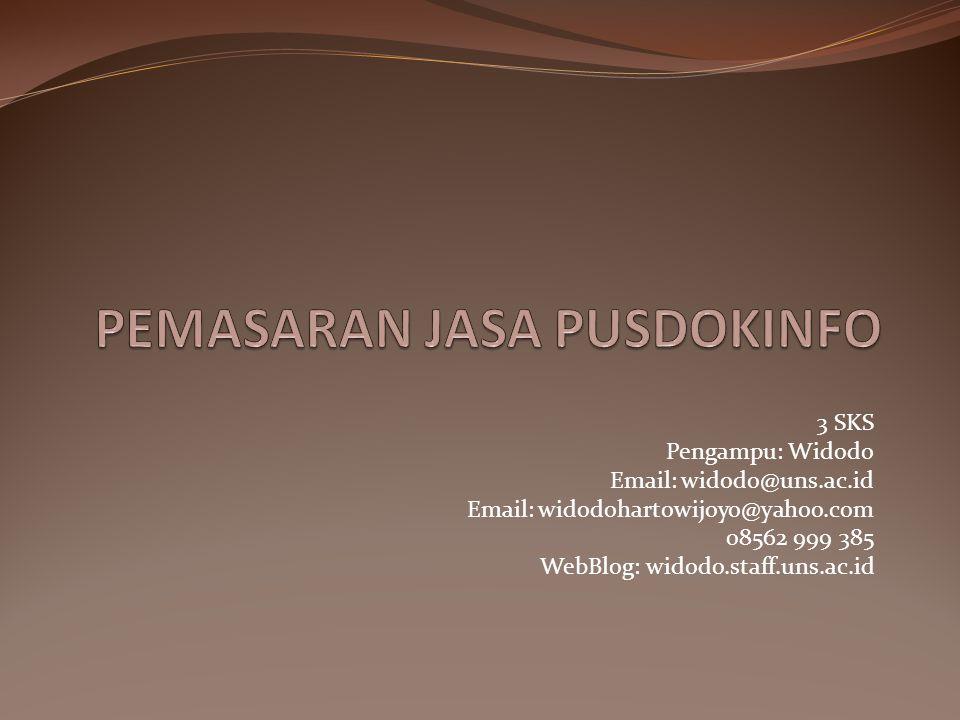 3 SKS Pengampu: Widodo Email: widodo@uns.ac.id Email: widodohartowijoyo@yahoo.com 08562 999 385 WebBlog: widodo.staff.uns.ac.id