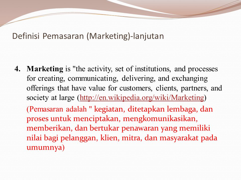 Istilah-istilah terkait advertising - calling something to the attention of the public, especially by paid announcements.