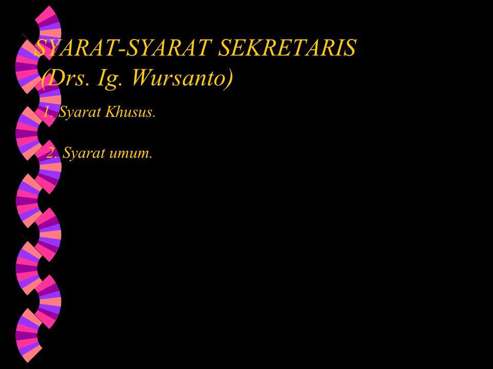B.Keterampilan praktis sekretaris.w 1.
