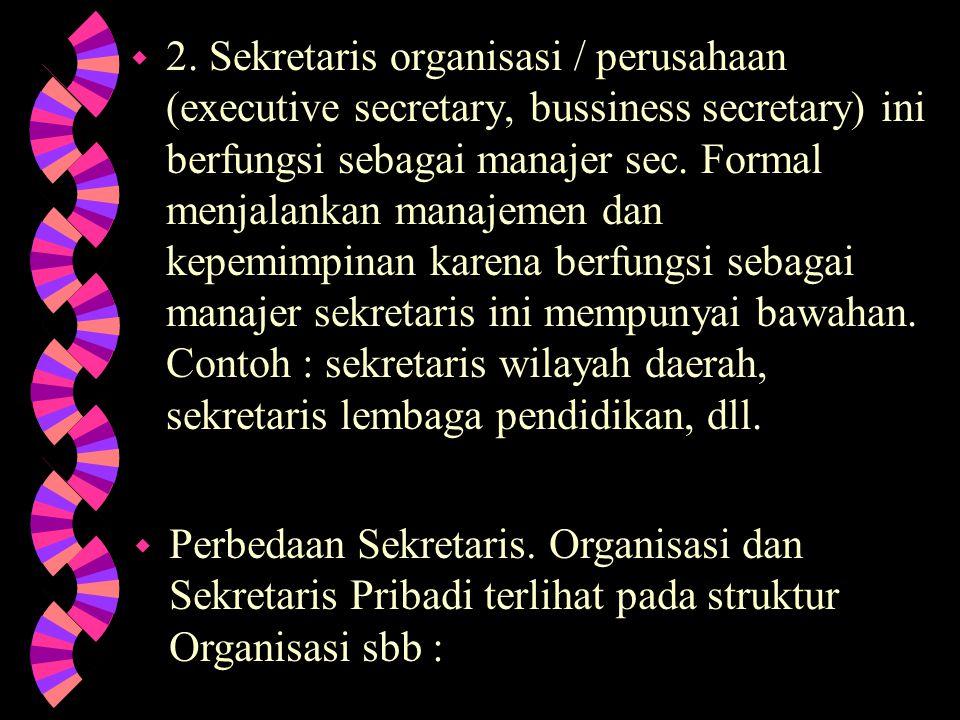 Di dunia ini hanya terdapat 2 macam sekretaris = w 1.