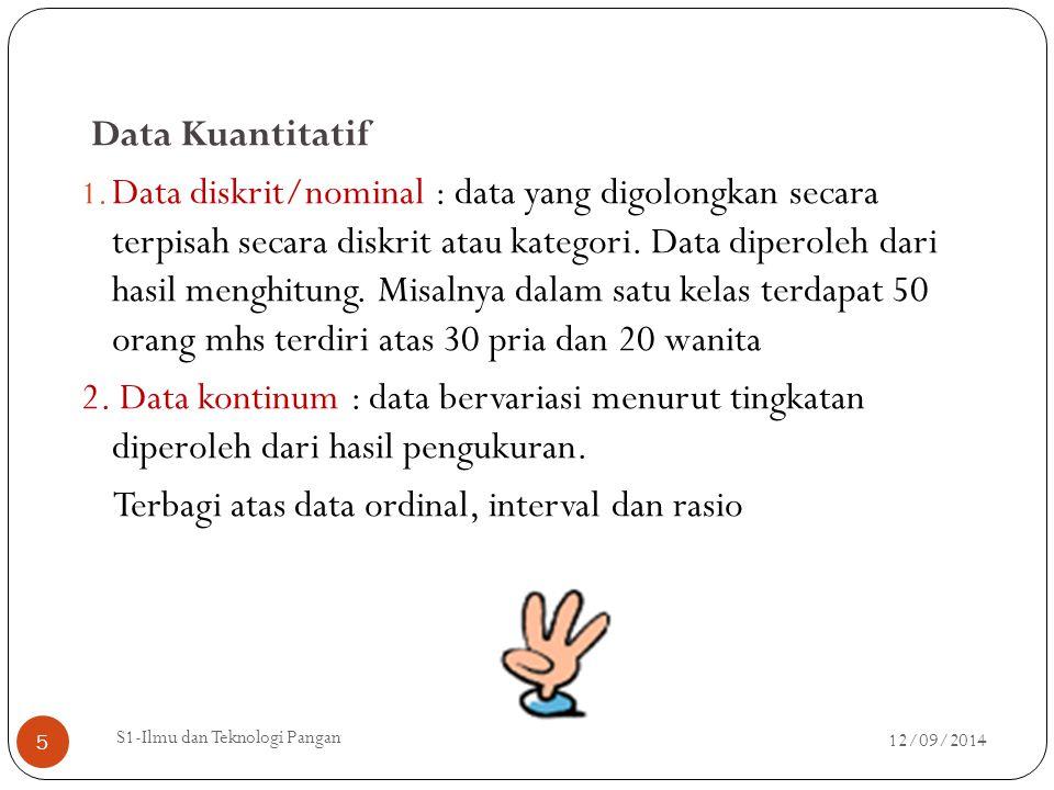 Data ordinal Data yang berbentuk ranking atau peringkat misalnya juara I,II,III.