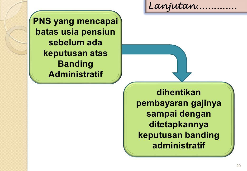 PNS yang mencapai batas usia pensiun sebelum ada keputusan atas Banding Administratif 20 Lanjutan..............