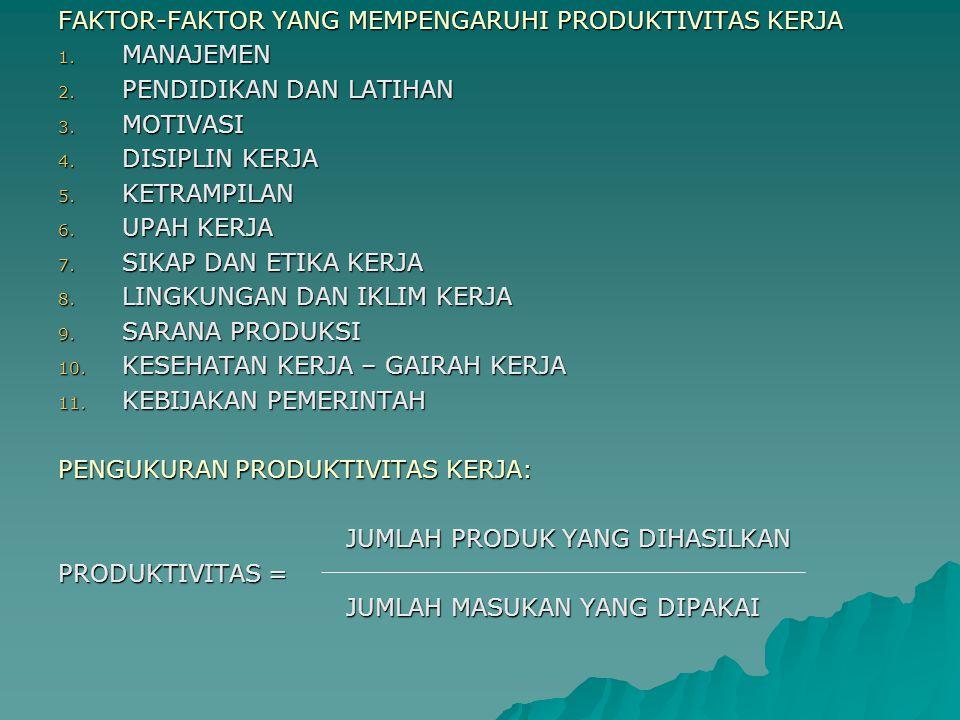 MANFAAT PENINGKATAN PRODUKTIVITAS 1.