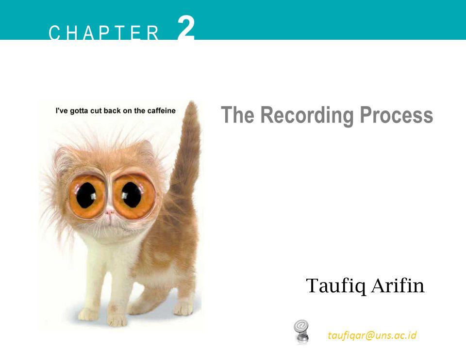 C H A P T E R 2 Taufiq Arifin taufiqar@uns.ac.id The Recording Process