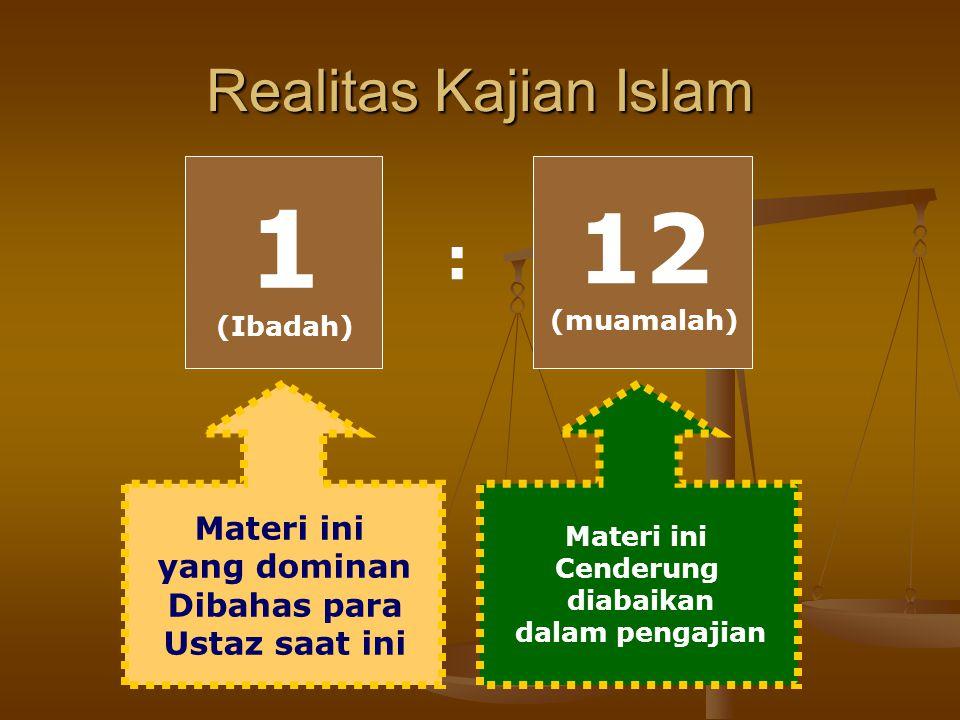 Perbandingan Alokasi Waktu untuk Ibadah dan Muamalah Ibadah Mahdhah 5 x 10 menit = 50 menit Ibadah Mahdhah 5 x 10 menit = 50 menit Muamalah (mencari n