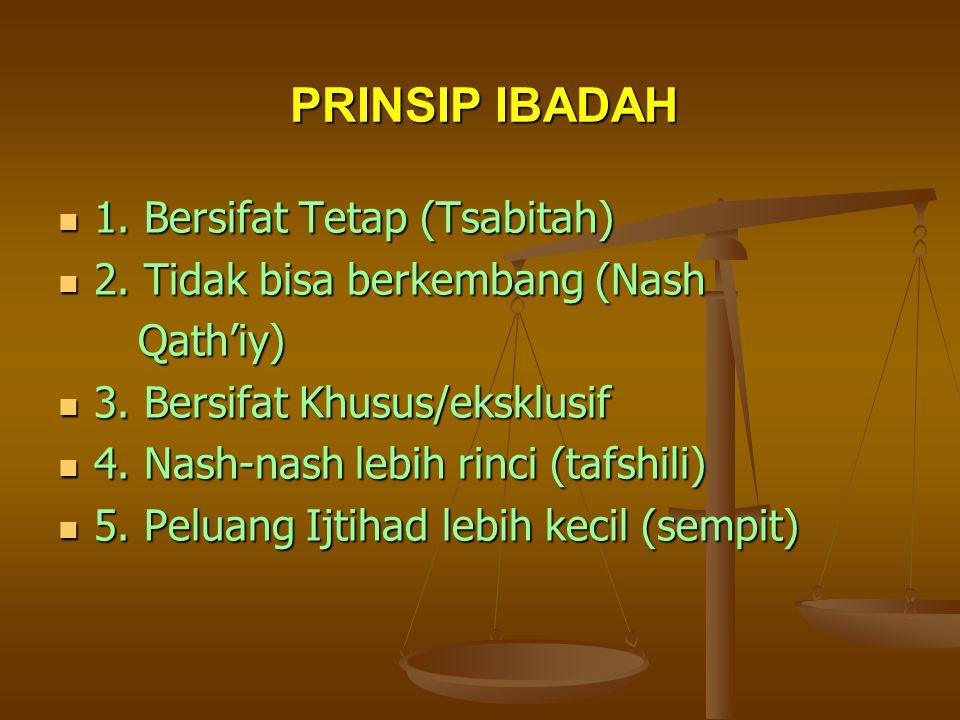 Prinsip Ibadah & Muamalah (Kaitannya dengan Ijtihad dan Pengembangan Hukum Islam)