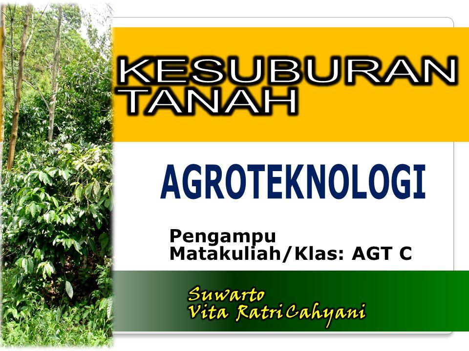 Pengampu Matakuliah/Klas: AGT C